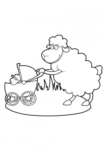 Coloriage Mouton 20
