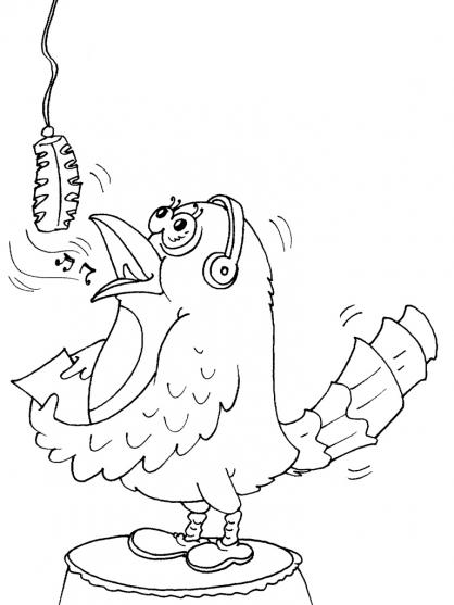 Coloriage oiseau 22 coloriage oiseaux coloriage animaux - Dessin oiseau qui chante ...