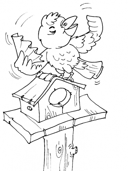 Coloriage Oiseau 24