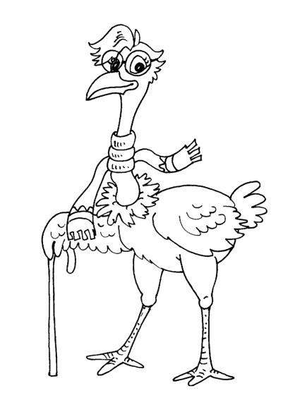 Coloriage Oiseau 30
