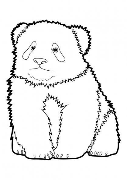 Coloriage panda 10 coloriage pandas coloriage animaux - Panda coloriage ...