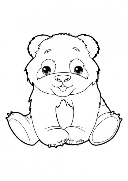 Coloriage Panda 19