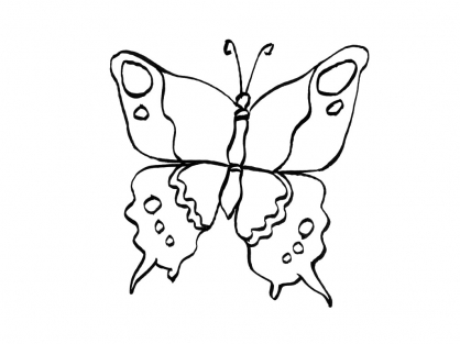Coloriage Papillon 15