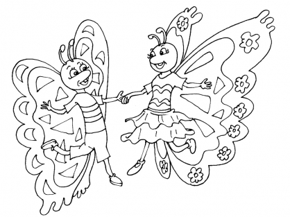 Coloriage Papillon 20