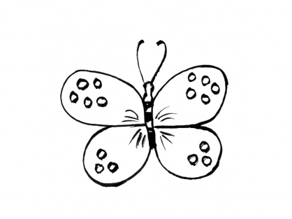 Coloriage Papillon 3