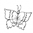 Coloriage Papillon 6