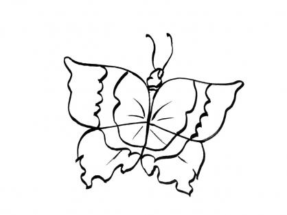 Coloriage Papillon-6