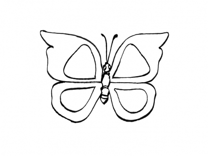 Coloriage papillon 9 coloriage papillons coloriage animaux - Coloriage d un papillon ...