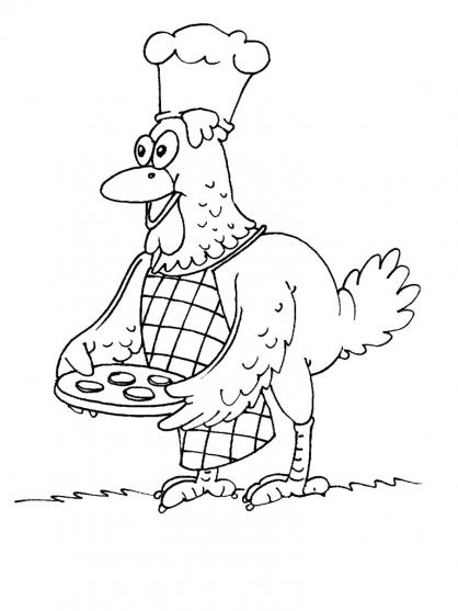 Coloriage poule 17 coloriage poules coloriage animaux - Dessin poules ...