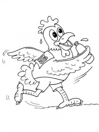 Coloriage poule 19 coloriage poules coloriage animaux - Coloriage poules ...