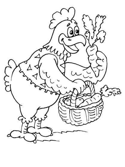 Coloriage poule 30 coloriage poules coloriage animaux - Dessin poules ...