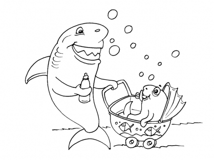 Coloriage Requin 21