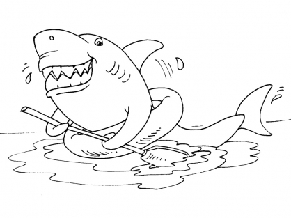 Coloriage Requin 24