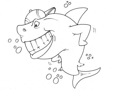 Coloriage Requin 25