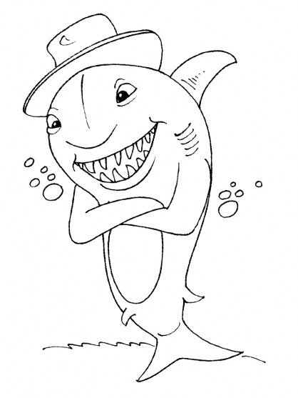 Coloriage Requin 30