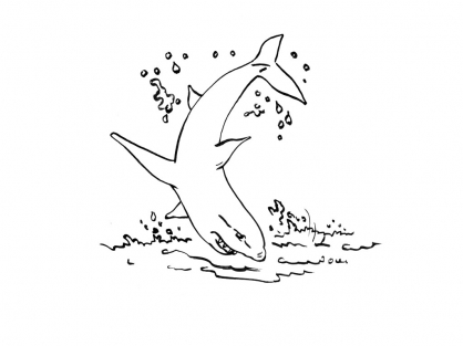 Coloriage Requin 8