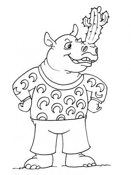 Coloriage Rhinocéros 22