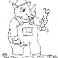 Coloriage Rhinocéros 25