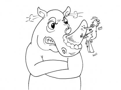 Coloriage Rhinocéros 29