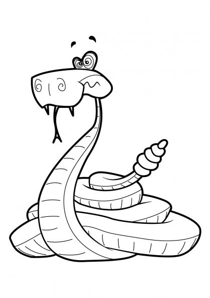 Coloriage Serpent 17