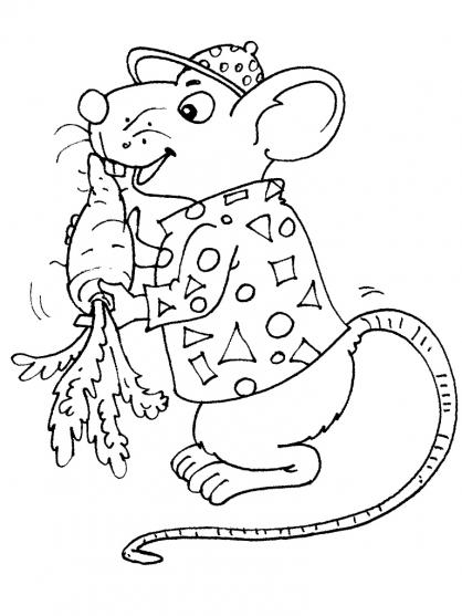 Coloriage souris 30 coloriage souris coloriage animaux - Coloriage petite souris ...