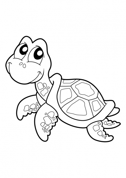 Coloriage Tortue 17