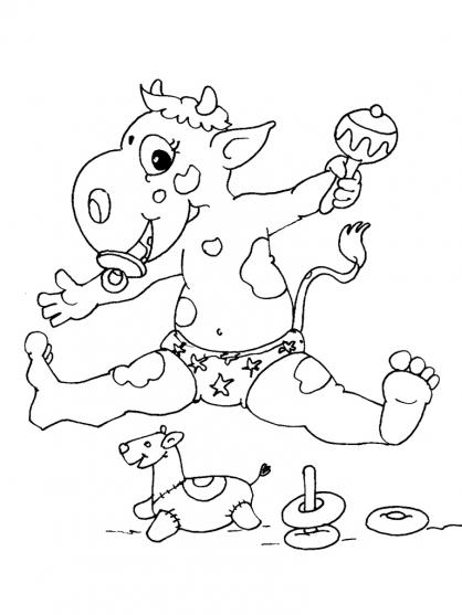 Coloriage Vache 16