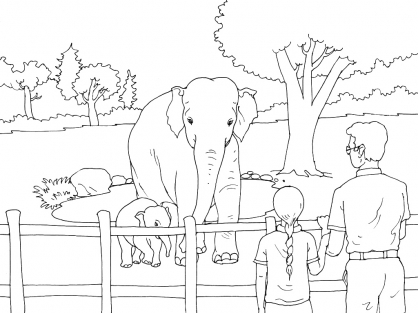 Coloriage Zoo 1