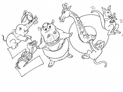 Coloriage Zoo 22