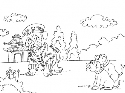 Coloriage Chine 22