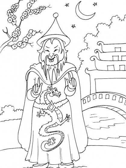 Coloriage Chine 25