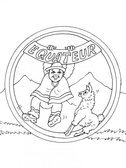 Coloriage Equateur 21