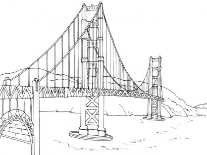golden gate coloring pages - photo#23