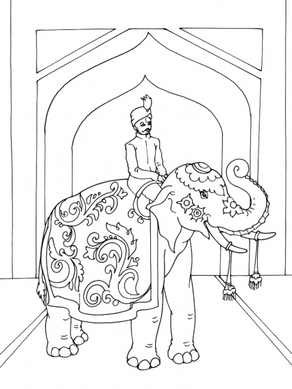 Coloriage inde 10 coloriage inde coloriage cartes et - Indien coloriage ...