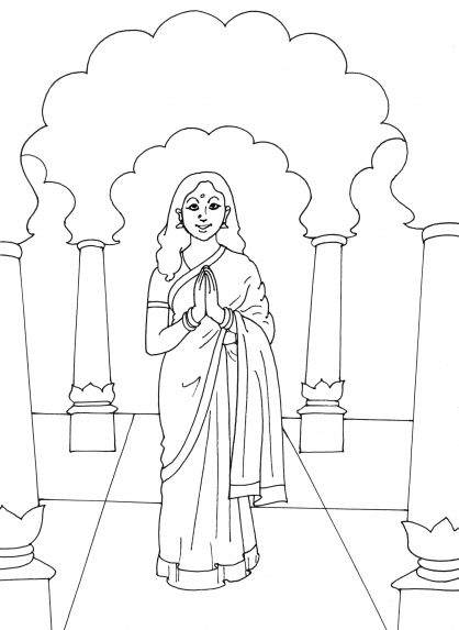 Coloriage inde 13 coloriage inde coloriage cartes et geographie - Coloriage inde ...
