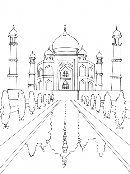 Coloriage inde 5 coloriage inde coloriage cartes et geographie - Coloriage inde ...