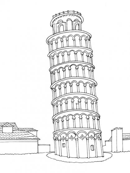 Coloriage Italie 6
