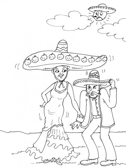 Coloriage Mexique 19