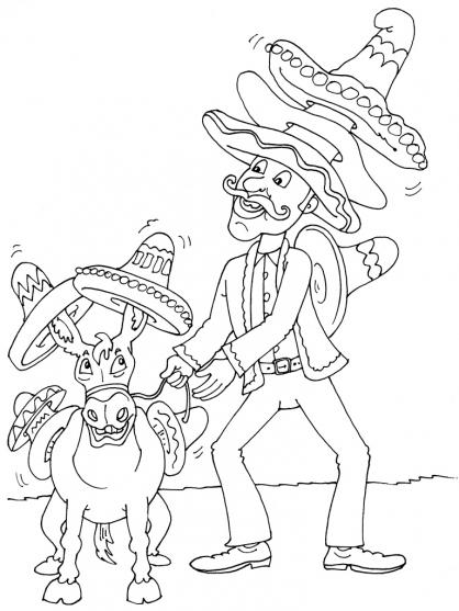 Coloriage Mexique 22