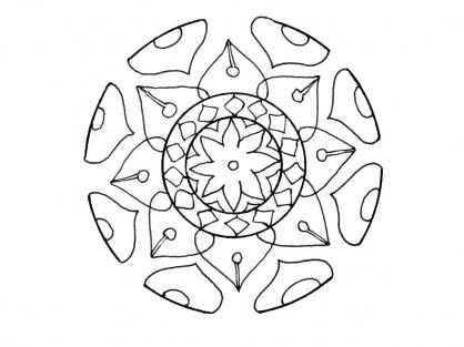 Coloriage Graphisme 1
