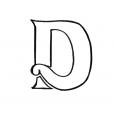 Coloriage Lettre D