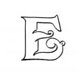 Coloriage Lettre E