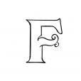 Coloriage Lettre F