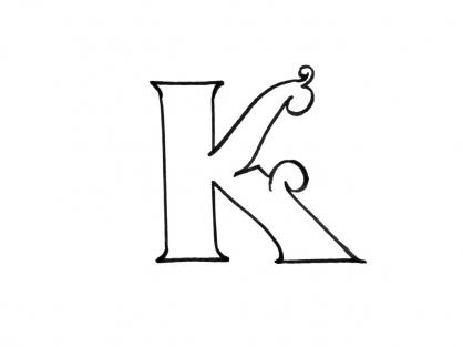 Coloriage Lettre K