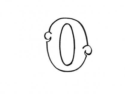 Coloriage Lettre O