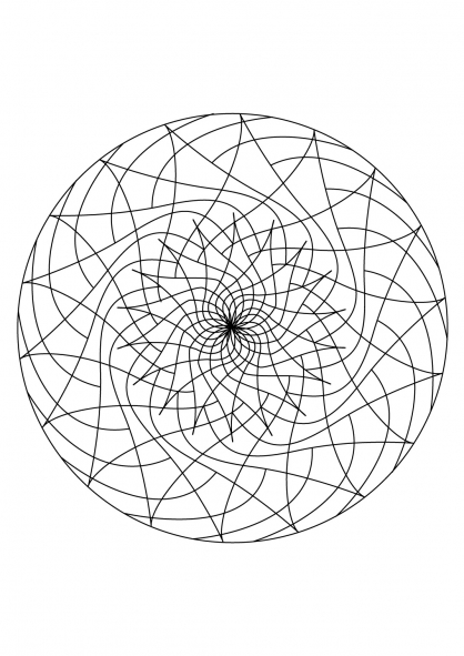 Coloriage Mandala 13