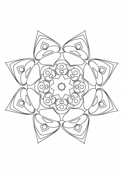 Coloriage Mandala 14