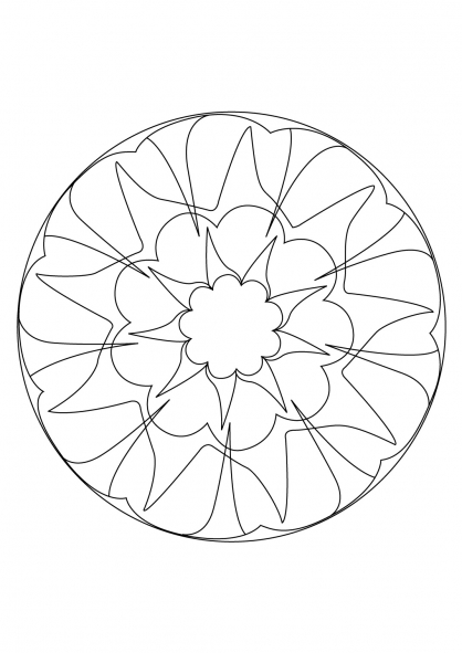 Coloriage Mandala 18
