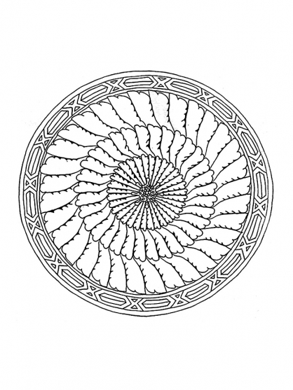Coloriage Mandala 21