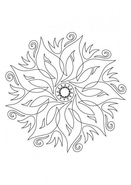 coloriages chiffres formes mandalas